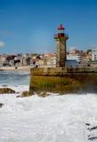 Farol porto portugal Arkivbild