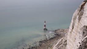 Farol principal Beachy Sussex do leste video estoque