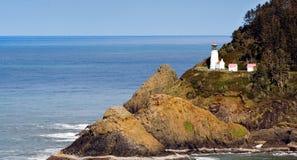 Farol principal de Heceta na costa de Oregon imagem de stock royalty free