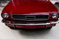 Farol retro vermelho do carro Foto de Stock