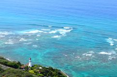 Farol sobre o oceano Fotografia de Stock Royalty Free