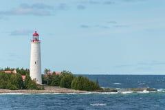 Farol Tobermory da ilha da angra, Bruce Peninsula Landscape imagens de stock royalty free