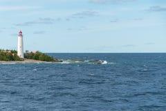 Farol Tobermory da ilha da angra, Bruce Peninsula Landscape foto de stock royalty free