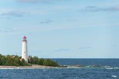 Farol Tobermory da ilha da angra, Bruce Peninsula Landscape imagens de stock
