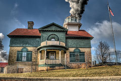 Farol velho da cidade de Michigan Imagem de Stock Royalty Free
