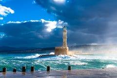 Farol Venetian velho do porto Imagem de Stock
