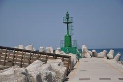 Farol verde Foto de Stock