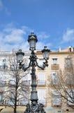 Farola y balcones Fotografía de archivo