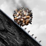 Faror av att röka stock illustrationer