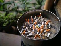 Faror av att röka Arkivbild