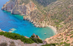 Faros bay, Polyaigos island, Greece Royalty Free Stock Image