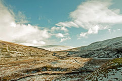 Faros de Brecon en el invierno Fotografía de archivo