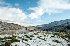 Faros de Brecon en el invierno Foto de archivo libre de regalías