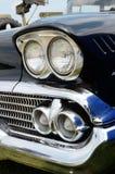 Faros del coche retro Imagen de archivo libre de regalías
