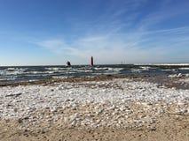 Faros del lago Michigan foto de archivo libre de regalías