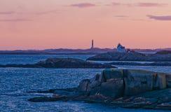 Faros en la costa costa Imagen de archivo