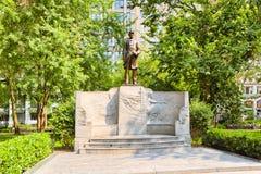 Farragut Monument海军上将,位于麦迪逊广场在Manhatta 免版税库存图片