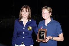 Farrah Hall gagne le 3ème endroit au RS : X Nord-américains Photo stock