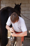 Farrier change old Iron Royalty Free Stock Photo