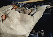 Farrier Tools with Chaps Stock Photography