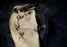 Farrier Tools with Chaps Stock Photo