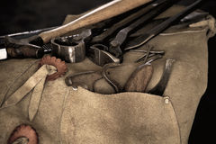 Farrier Tools with Shallow Depth of Field Stock Photo