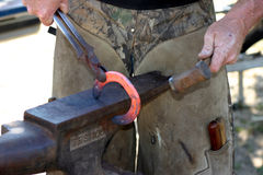 Farrier at work Royalty Free Stock Image