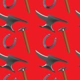 Farriers tools pattern test stock illustration