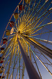 Farris Wheel. Lights from a ferris wheel shine bright at the New York State Fair in Syracuse, N.Y., Aug. 31, 2008 Royalty Free Stock Image