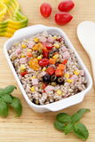 Farro salad with vegetables Royalty Free Stock Image