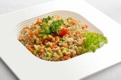 Farro sallad med grönsaker Fotografering för Bildbyråer
