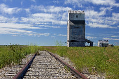 Farrow grain elevator Royalty Free Stock Photo