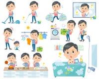 Farsa och baby_housekeeping royaltyfri illustrationer