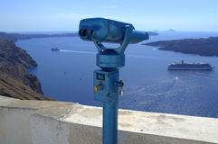 Farsighted at Santorini Royalty Free Stock Photography