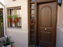 Farstubro med växter i Spanien Royaltyfri Bild