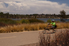 fartfylld cyklist Arkivbild