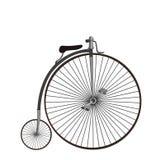 Farthing lub wysoki koło bicykl Odizolowywający na białym backgrou Obrazy Stock