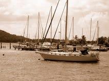 fartygöar seglar oskuld Arkivbilder