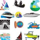 fartyg stock illustrationer