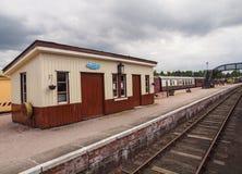 Fartyg av den Garten järnvägsstationen, Skottland Royaltyfria Foton
