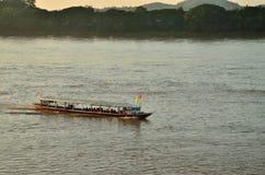 Fartyg av flodsikten Royaltyfria Bilder