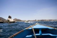 Fartyg av kusten av Mexico Arkivfoto