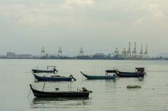 Fartyg bevattnar på Royaltyfri Bild
