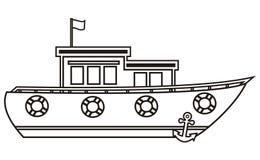 Fartyg färgläggningbok Arkivfoto