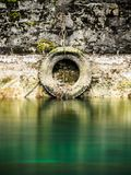 Fartyg för hed för forntida medeldäck van vid på floden Rhone, Genève Schweiz royaltyfri bild