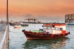 Fartyg för hyra i havet Royaltyfria Bilder