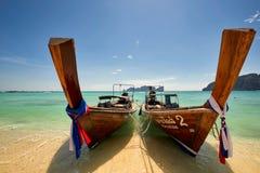 Fartyg för lång svans på Koh Phi Phi Thailand Royaltyfria Foton
