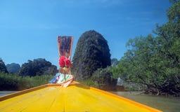 Fartyg för lång svans, Thailand Fotografering för Bildbyråer