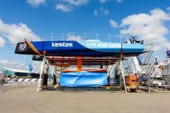Fartyg för Volvo havlopp under reparation i Cardiff Royaltyfri Fotografi
