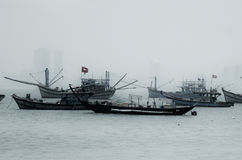 Fartyg i Da Nang Royaltyfri Bild